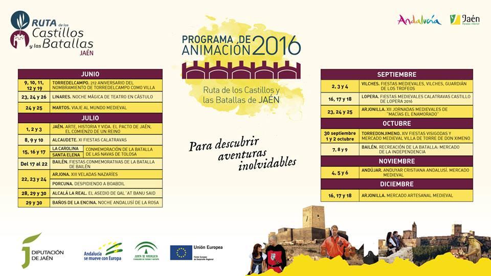Programa animación Ruta Castillos y Batallas Jaén