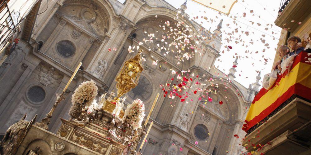 Corpus en Granada, desde el Hotel Torrepalma